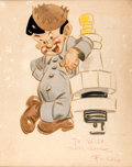 Animation Art:Production Drawing, Fred Moore Spark Plug Illustration Original Art (Walt Disney,1940s)....