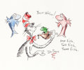 Animation Art:Production Drawing, Dr. Seuss The Cat in the Hat Sketch (undated)....