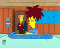 """Animation Art:Production Cel, Simpsons """"Brother From Another Series"""" Sideshow Bob andCecil Terwilliger Production Cel Set-Up (Fox, 1997)...."""