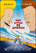 "Movie Posters:Animation, Beavis and Butthead Do America and Other Lot (Paramount, 1996). One Sheet (27"" X 40"") Advance, and Polish Poster (27"" X 38.5... (Total: 2 Items)"