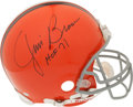 """Football Collectibles:Helmets, Jim Brown Signed Cleveland Browns """"Authentic"""" Helmet...."""