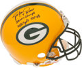 Football Collectibles:Helmets, Brett Favre Signed, Inscribed Authentic Full Sized Green Bay Packers Helmet. ...