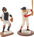 Baseball Collectibles:Others, Yogi Berra & Stan Musial Signed Gartlan Statues. ...