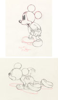 Animation Art:Production Cel, Mickey Mouse Production Drawing Group (Walt Disney, 1930s)....(Total: 2 Original Art)
