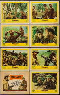 """Movie Posters:War, Men in War (United Artists, 1957). Lobby Card Set of 8 (11"""" X 14"""").War.. ... (Total: 8 Items)"""