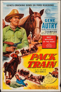"Movie Posters:Western, Pack Train (Columbia, 1953). One Sheet (27"" X 41""). Western.. ..."