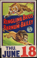 """Movie Posters:Miscellaneous, Ringling Brothers and Barnum and Bailey Circus (Ringling Brothers, Early 1940s). Circus Poster (27"""" X 37""""). Miscellaneous.. ..."""