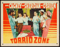 "Movie Posters:Adventure, Torrid Zone (Warner Brothers, 1940). Lobby Card (11"" X 14"").Adventure.. ..."