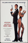 "Movie Posters:James Bond, A View to a Kill (United Artists, 1985). One Sheet (27"" X 41"") Advance, Grace Jones Style. James Bond.. ..."