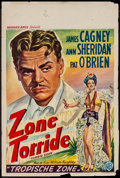 "Movie Posters:Adventure, Torrid Zone (Warner Brothers, Late R-1940s). Belgian Poster (14.25""X 21.25""). Adventure.. ..."