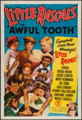 """Movie Posters:Comedy, The Awful Tooth (Monogram, R-1951). Stock One Sheet (27"""" X 41"""")Flat Folded. Comedy.. ..."""