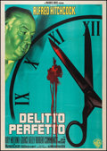"Movie Posters:Hitchcock, Dial M for Murder (Warner Brothers, R-1960). Italian 4 - Foglio(54.75"" X 77""). Hitchcock.. ..."