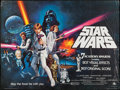 "Movie Posters:Science Fiction, Star Wars (20th Century Fox, 1977). British Quad (30"" X 40"")Academy Award Style C. Science Fiction.. ..."