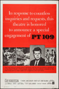 """Movie Posters:War, PT 109 (Warner Brothers, 1963). One Sheet (27"""" X 41"""") Kennedy StyleA. War.. ..."""