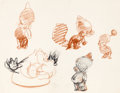"animation art:Model Sheet, Chuck Jones ""Inki"" Model Sheet (Warner Brothers, 1940s/50s)...."