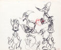 animation art:Model Sheet, Grim Natwick Woody Woodpecker Sketches (Walter Lantz, 1940s)....