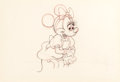 Animation Art:Production Drawing, Pluto's Sweater Minnie Mouse Production Drawing (WaltDisney, 1949)....