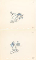 Animation Art:Production Drawing, Hockey Homicide Goofy Production Drawing Group (Walt Disney,1945).... (Total: 6 Original Art)