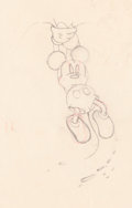 Animation Art:Production Drawing, Mickey Mouse Production Drawing (Walt Disney, 1929/30)....