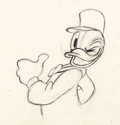 Animation Art:Production Drawing, The Village Smithy Donald Duck Production Drawing (WaltDisney, 1942)....