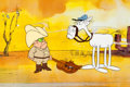 Animation Art:Production Cel, Sheriff Hoot Kloot Production Cel and Matching Drawing(DePatie-Freleng, 1973).... (Total: 2 Items)