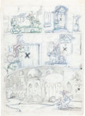 Animation Art:Production Drawing, Mickey Mouse as Aladdin Comic Book Preliminary Drawing Group (WaltDisney, undated).... (Total: 5 Original Art)