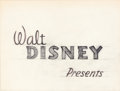 Animation Art:Production Drawing, Victory Through Airpower Opening Credit Production Drawing(Walt Disney, 1943)...