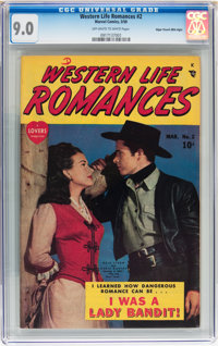 Western Life Romances #2 Mile High pedigree (Marvel, 1950) CGC VF/NM 9.0 Off-white to white pages