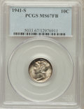 Mercury Dimes: , 1941-S 10C MS67 Full Bands PCGS. PCGS Population (294/5). NGCCensus: (329/6). Mintage: 43,090,000. Numismedia Wsl. Price f...