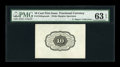 Fractional Currency:First Issue, Milton 1P10R.1c 10¢ First Issue Wide Margin Back Proof PMG Gem Uncirculated 63 EPQ....