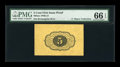 Fractional Currency:First Issue, Milton 1P5R.1d 5¢ First Issue Wide Margin Back Proof PMG Gem Uncirculated 66 EPQ....
