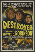 "Movie Posters:War, Destroyer (Columbia, 1943). One Sheet (27"" X 41""). War. ..."