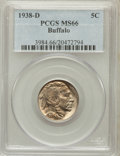 Buffalo Nickels: , 1938-D 5C MS66 PCGS. PCGS Population (27962/1590). NGC Census:(19487/1939). Mintage: 7,020,000. Numismedia Wsl. Price for ...