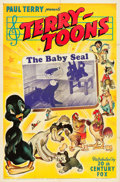 "Movie Posters:Animation, Terry-Toon Cartoons (20th Century Fox, 1941). One Sheet (27"" X 41"") ""The Baby Seal."". ..."