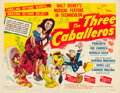 "Movie Posters:Animation, The Three Caballeros (RKO, 1944). Half Sheet (22"" X 28"") Style A.. ..."