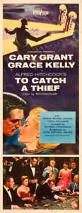 "Movie Posters:Hitchcock, To Catch a Thief (Paramount, 1955). Insert (14"" X 36"").. ..."