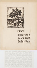 Books:Art & Architecture, [Rockwell Kent and others]. 1939 American Block Print Calendar. Milwaukee: Gutenberg Publishing Co., 1938. Publi...