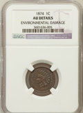 Indian Cents, 1874 1C -- Environmental Damage -- NGC Details. AU. NGC Census:(8/262). PCGS Population (40/226). Mintage: 14,187,500....
