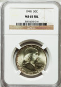 Franklin Half Dollars: , 1948 50C MS65 Full Bell Lines NGC. NGC Census: (830/111). PCGSPopulation (2092/338). Numismedia Wsl. Price for problem fr...
