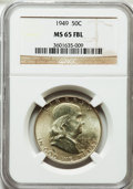 Franklin Half Dollars: , 1949 50C MS65 Full Bell Lines NGC. NGC Census: (326/48). PCGSPopulation (947/181). Numismedia Wsl. Price for problem free...