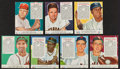 Basketball Cards:Lots, 1952-1955 Red Man Baseball Tobacco Cards (13) - All With Tabs. ...