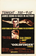 "Movie Posters:James Bond, Goldfinger (United Artists, 1964). Window Card (14"" X 22"").. ..."