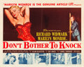 "Movie Posters:Thriller, Don't Bother to Knock (20th Century Fox, 1952). Half Sheet (22"" X28"").. ..."