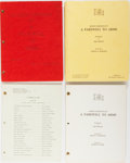 Books:Literature 1900-up, [Ernest Hemingway]. Selznick Studios. Three Scripts Related toCharles Vidor's Film, A Farewell to Arms. Selznic... (Total:4 Items)