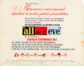 "Movie Posters:Academy Award Winners, All About Eve (20th Century Fox, 1950). Half Sheet (22"" X 28"")Style B.. ..."