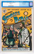 Golden Age (1938-1955):Religious, Picture Stories from the Bible New Testament Edition #3 Gaines Filepedigree (EC, 1946) CGC NM+ 9.6 Off-white pages....