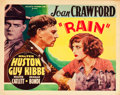 """Movie Posters:Drama, Rain (Atlantic Pictures, R-1937). Half Sheets (2) (22"""" X 28"""").. ...(Total: 2 Items)"""