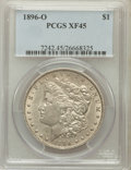 Morgan Dollars: , 1896-O $1 XF45 PCGS. PCGS Population (454/4180). NGC Census:(339/4565). Mintage: 4,900,000. Numismedia Wsl. Price for prob...