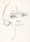 "Animation Art:Production Drawing, Chuck Jones ""Young Woman"" Drawing...."