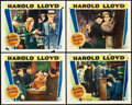 "Movie Posters:Comedy, Welcome Danger (Paramount, 1929). Lobby Cards (4) (11"" X 14"").. ...(Total: 4 Items)"